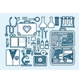 medic supplies drugs pills vector image vector image