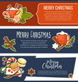 merry christmas happy new year winter holidays vector image vector image