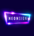 neon sign retro light signboard with neon effect vector image vector image