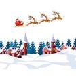 new year christmas an image of santa claus and vector image
