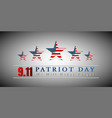 patriot day usa with star in national flag vector image vector image