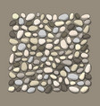 pebble background for your design vector image vector image