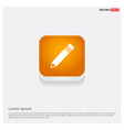 pencil icon orange abstract web button vector image
