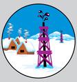 petroleum emblem vector image vector image