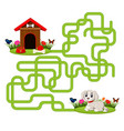 puzzle game template with dog and doghouse vector image
