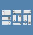 qr code tickets set vector image
