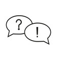 question answer icons vector image