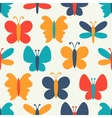 Retro seamless pattern of colorful butterfly vector image vector image