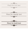 Retro text dividers set Vintage border elements vector image vector image