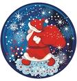 Santa Snow Globe vector image vector image