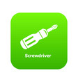 screwdrive icon green vector image