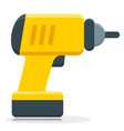 screwdriver flat icon isolated vector image