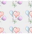 seamless pattern from balloon balloon on grunge vector image vector image