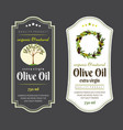 set flat labels and badges olive oil vector image vector image