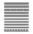 Set of border decoration elements seamless vector image vector image