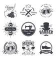 set of vintage workshop emblems vector image