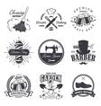 set vintage workshop emblems vector image vector image