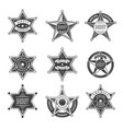 sheriff stars badges western star texas vector image vector image