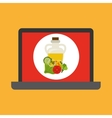shopping online concept order fresh food vector image vector image