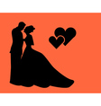 silhouette of lovers vector image vector image