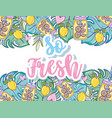 so fresh cute cartoons vector image vector image