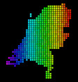 spectrum dotted netherlands map vector image