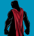 superhero back battle mode silhouette vector image vector image