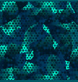 texture military futuristic camouflage seamless vector image vector image