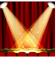 Theater stage vector image