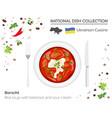 ukrainian cuisine european national dish vector image
