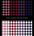 violet lumberjack pattern collection vector image vector image