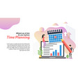 web header template time planning in flat vector image vector image