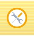Auto service color flat icon vector image