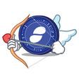 cupid status coin character cartoon vector image