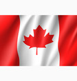 flag canada realistic icon vector image