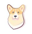dog emoticon smiling puppy vector image