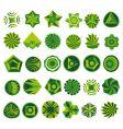 set of green logo vector image