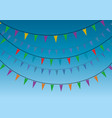 a group of party miniflags garlands vector image vector image