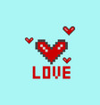 a heart pixel vector image vector image