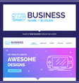 beautiful business concept brand name console vector image vector image