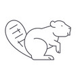 beaver line icon sign on vector image