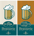 beer and seafood vector image vector image