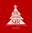 big christmas sale poster design vector image