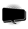 black comic speech bubble vector image vector image