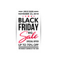 black friday sale banner vertical design isolated vector image