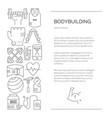bodybuilding template design vector image