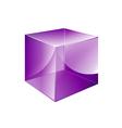 box violet glossy vector image
