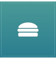 Burger flat icon vector image vector image