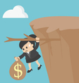business woman Fiscal cliff concept vector image vector image