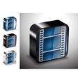button icons multimedia cinema media vector image vector image